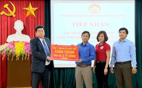 Tập đoàn kinh tế Xuân Thành ủng hộ đồng bào miền Trung