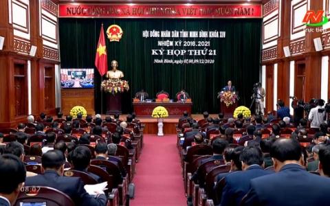 Khai mạc Kỳ họp thứ 21, HĐND tỉnh Ninh Bình khóa XIV