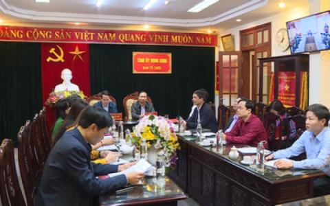 Hội nghị trực tuyến góp ý về quy chế bầu cử trong Đảng và sắp xếp lại bộ máy