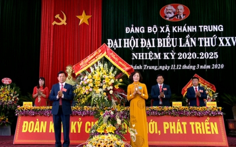 Đại hội đại biểu Đảng bộ xã Khánh Trung