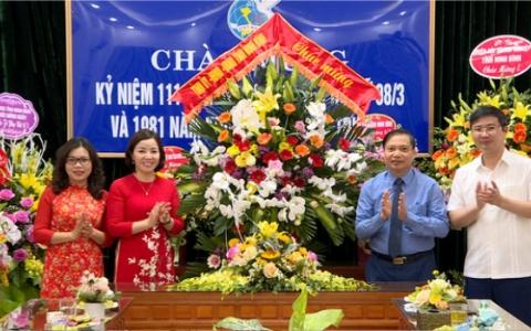 Đồng chí Trần Hồng Quảng chúc mừng Hội LHPN tỉnh nhân ngày 8/3