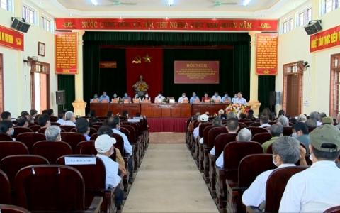 Ứng cử viên đại biểu HĐND tỉnh nhiệm kỳ 2021- 2026 tiếp xúc cử tri
