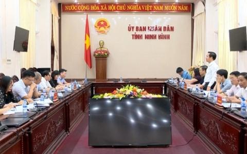 Đoàn công tác của Bộ Kế hoạch và Đầu tư làm việc tại Ninh Bình