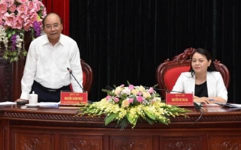 Thủ tướng Chính phủ Nguyễn Xuân Phúc làm việc tại Ninh Bình