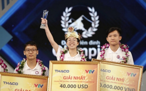 Nguyễn Thị Thu Hằng - Ninh Bình đoạt vòng nguyệt quế Đường lên đỉnh Olympia 2020