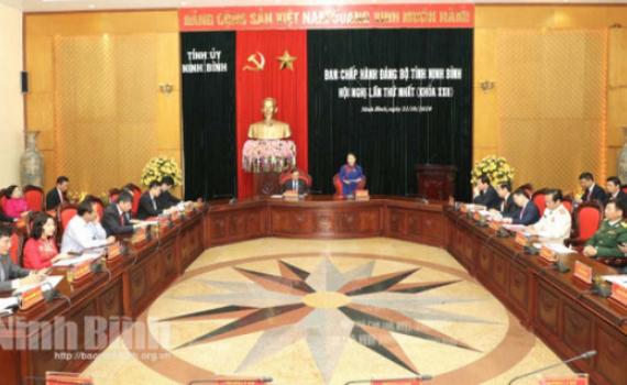 Ban Chấp hành Đảng bộ tỉnh khóa XXII, nhiệm kỳ 2020-2025 họp phiên thứ nhất