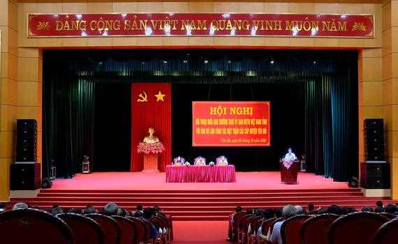 Ban Thường trực Ủy ban MTTQ Việt Nam tỉnh đối thoại với cán bộ làm công tác mặt trận huyện Yên Mô