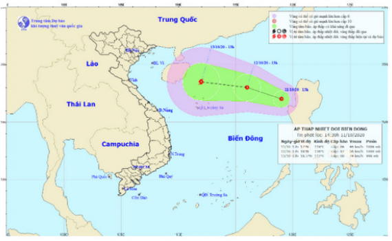 Bão số 6 vừa tan lại có áp thấp nhiệt đới mới trên Biển Đông