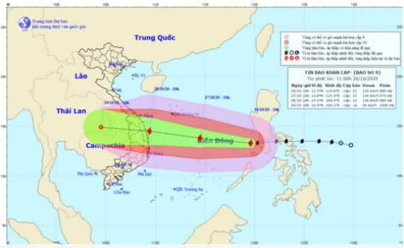 Công điện của Thủ tướng Nguyễn Xuân Phúc về ứng phó khẩn cấp với bão số 9