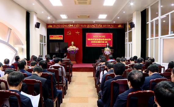Đảng ủy Khối CQ&DN tỉnh thông báo kết quả Đại hội Đảng bộ tỉnh lần thứ XXII