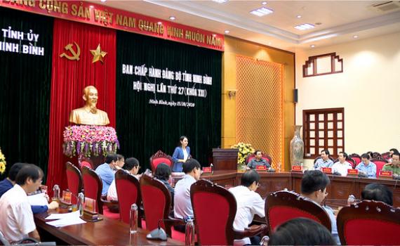 Hội nghị BCH Đảng bộ tỉnh lần thứ 27