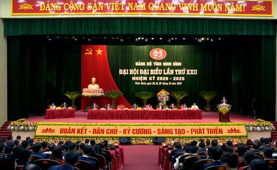 Phiên khai mạc Đại hội Đảng bộ tỉnh Ninh Bình lần thứ XXII diễn ra trong sáng nay