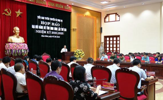 Họp báo tuyên truyền Đại hội đại biểu Đảng bộ tỉnh Ninh Bình lần thứ XXII