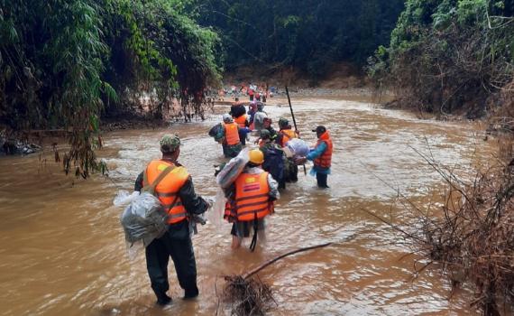 Tạm dừng tìm kiếm các nạn nhân mất tích tại thủy điện Rào Trăng 3