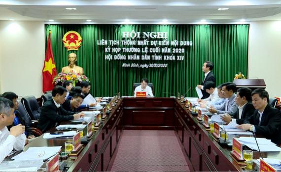 Thống nhất dự kiến nội dung kỳ họp cuối năm 2020 của HĐND tỉnh