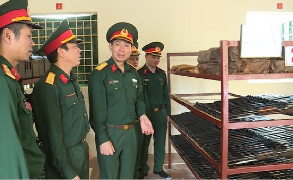Bộ CHQS tỉnh kiểm tra công tác quân sự, quốc phòng tại TP Ninh Bình, Tam Điệp