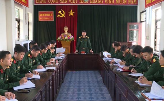 Bộ CHQS tỉnh kiểm tra công tác quân sự, quốc phòng tại Hoa Lư