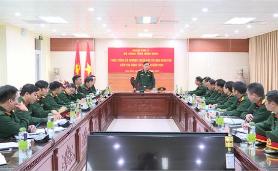 Bộ Tư lệnh Quân khu 3 kiểm tra công tác hậu cần tại Bộ CHQS tỉnh