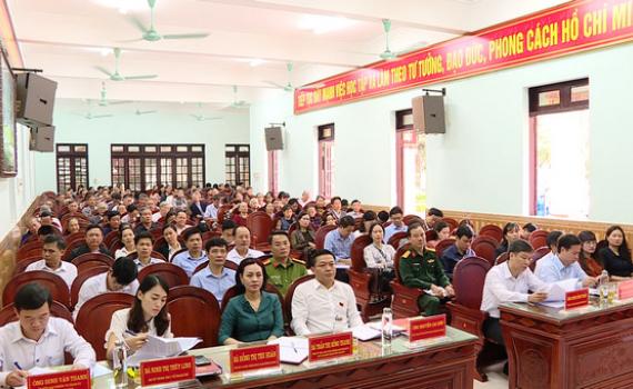 Đại biểu HĐND tỉnh tiếp xúc cử tri TP Tam Điệp