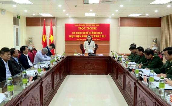 Đảng ủy Quân sự tỉnh ra nghị quyết lãnh đạo thực hiện nhiệm vụ năm 2021