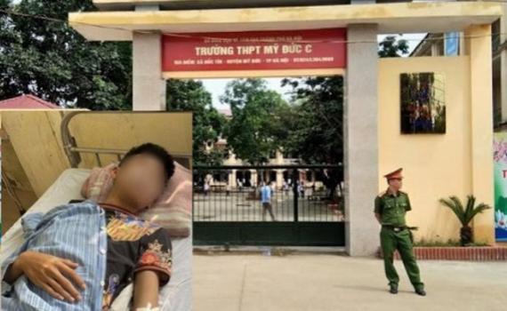 Điều tra nhóm học sinh vác dao đuổi chém nhau quanh trường