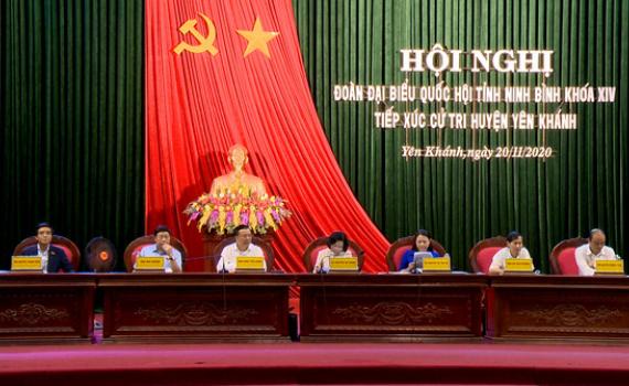 Đoàn ĐBQH tỉnh tiếp xúc cử tri các huyện Yên Khánh, Hoa Lư