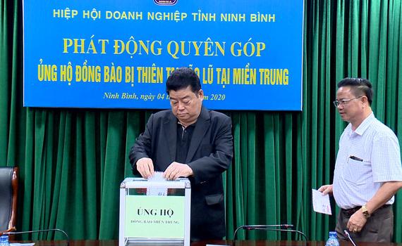 Hiệp hội Doanh nghiệp tỉnh phát động quyên góp ủng hộ đồng bào miền Trung