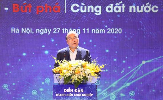 Thủ tướng Nguyễn Xuân phúc dự Diễn đàn Thanh niên khởi nghiệp 2020