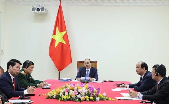 Thủ tướng Nguyễn Xuân Phúc và Thủ tướng Campuchia Hun Sen hội đàm trực tuyến