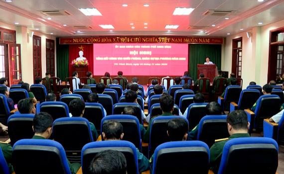 TP Ninh Bình triển khai nhiệm vụ quốc phòng quân sự năm 2021