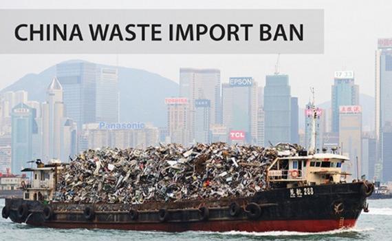 Trung Quốc sẽ cấm nhập tất cả các loại rác thải từ đầu năm 2021