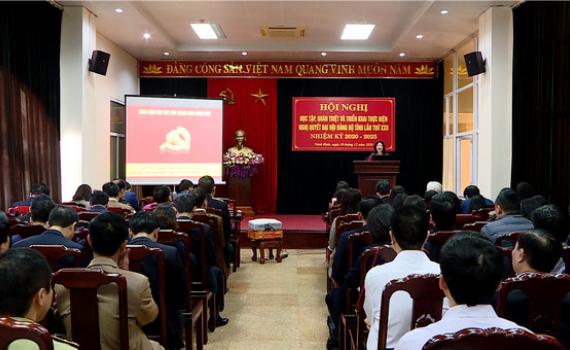 Các Huyện ủy, Đảng ủy học tập, quán triệt và triển khai thực hiện Nghị quyết Đại hội Đảng bộ tỉnh
