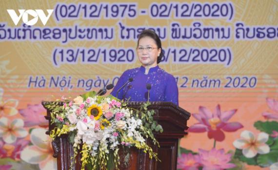 Chủ tịch Quốc hội dự lễ Kỷ niệm 45 năm Quốc khánh nước CHDCND Lào