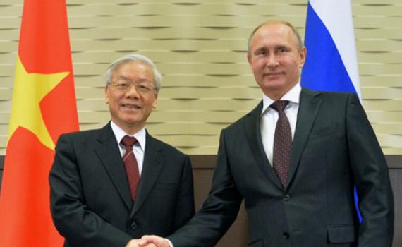 Tổng thống Nga chúc mừng Tổng Bí thư, Chủ tịch nước Nguyễn Phú Trọng nhân dịp năm mới 2021
