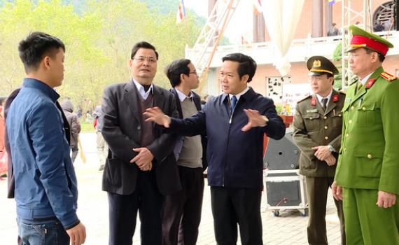 Đồng chí Phạm Quang Ngọc kiểm tra các Khu, điểm du lịch đầu Xuân