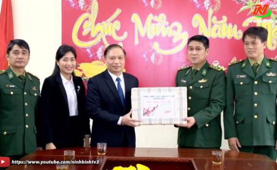 Đồng chí Trần Hồng Quảng chúc tết cán bộ, chiến sỹ Đồn Biên phòng Kim Sơn
