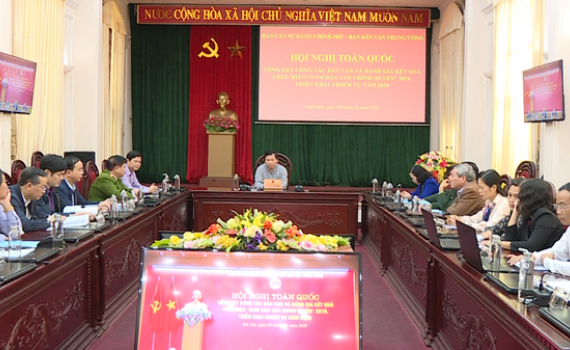 Hội nghị trực tuyến toàn quốc tổng kết công tác Dân vận năm 2019