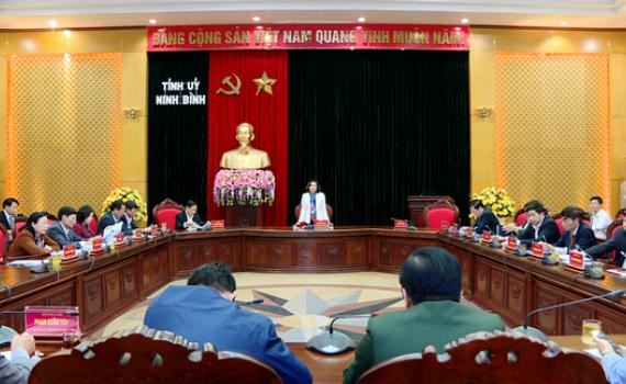 Thường trực Tỉnh ủy triển khai công tác nội chính, tôn giáo năm 2020