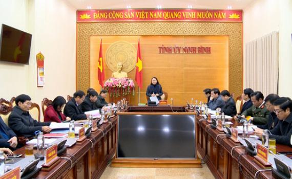 Hội nghị Kiểm điểm Ban Thường vụ Tỉnh ủy năm 2020