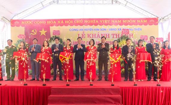 Khánh thành trụ sở làm việc Công an xã Quang Thiện