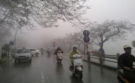 Miền Bắc sương mù bao phủ, ô nhiễm không khí ở mức báo động