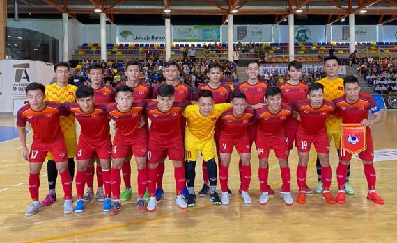 """ĐT futsal Việt Nam nhận """"trái đắng"""" đầu tiên trên đất châu Âu"""