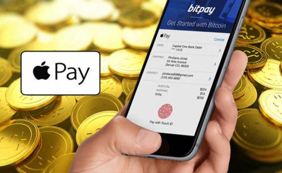 Apple Pay cho phép mua hàng hóa bằng tiền điện tử