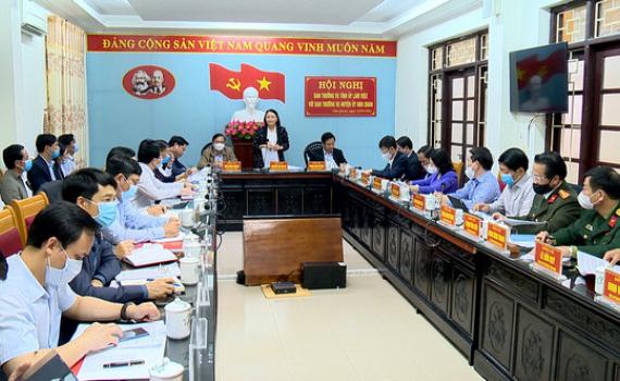 Ban Thường vụ Tỉnh ủy làm việc với Ban Thường vụ Huyện ủy Nho Quan