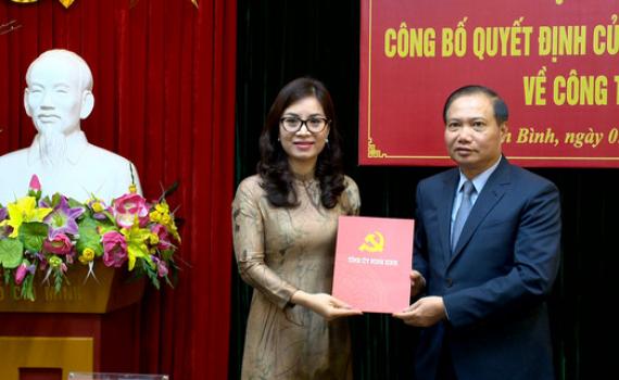 Công bố quyết định bổ nhiệm Phó trưởng Ban Thường trực Ban Tổ chức Tỉnh ủy