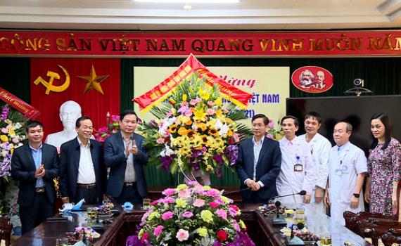 Đồng chí Tống Quang Thìn thăm, chúc mừng nhân ngày Thầy thuốc Việt Nam