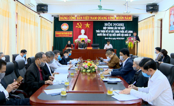 Hội nghị hiệp thương lần thứ nhất bầu cử Đại biểu HĐND tỉnh khóa XV