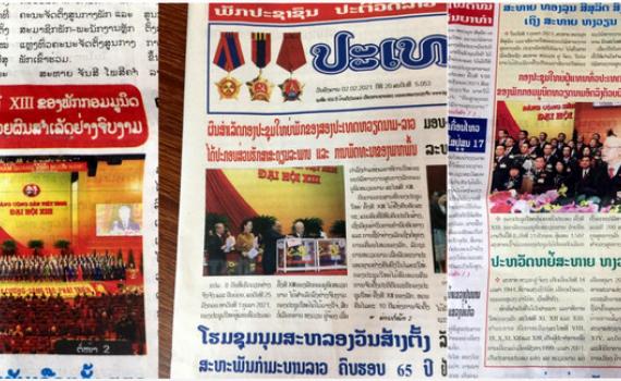 Truyền thông Lào: Đại hội XIII góp phần quan trọng vào ổn định, phát triển khu vực