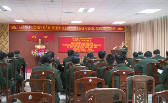 Bộ CHQS tỉnh triển khai công tác bầu cử Đại biểu Quốc hội và HĐND các cấp
