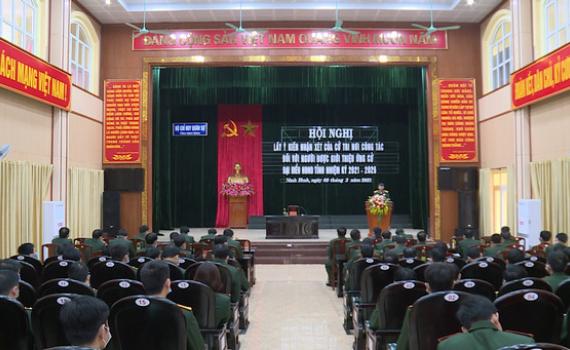Bộ CHQS tỉnh giới thiệu nhân sự ứng cử đại biểu HĐND tỉnh